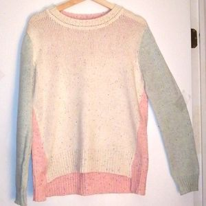 Ardene white,pink and blue sweater size med/large